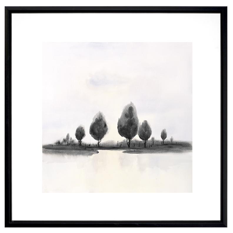 Paysage d'arbres abstraits
