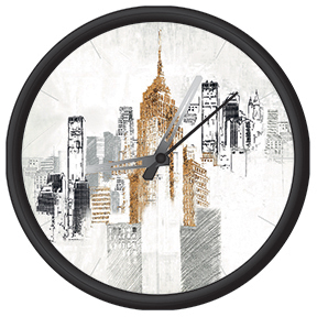 Clock with city print