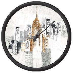 Horloge avec imprimé de ville