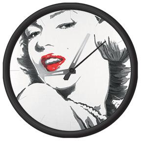 Clock with marilyn monroe print