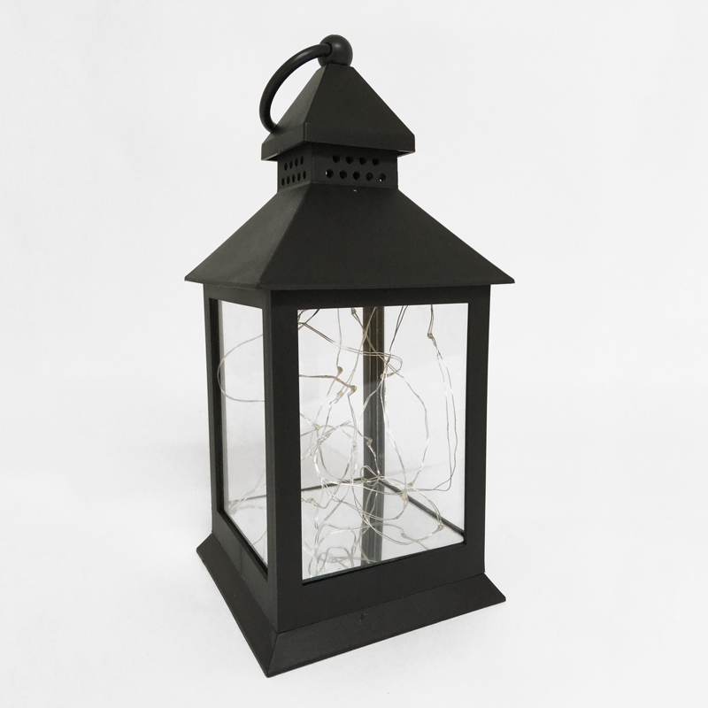 Lanterne de plastique noire