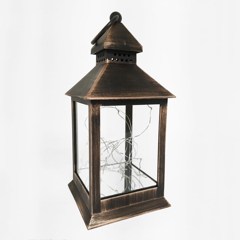Lanterne de plastique bronze