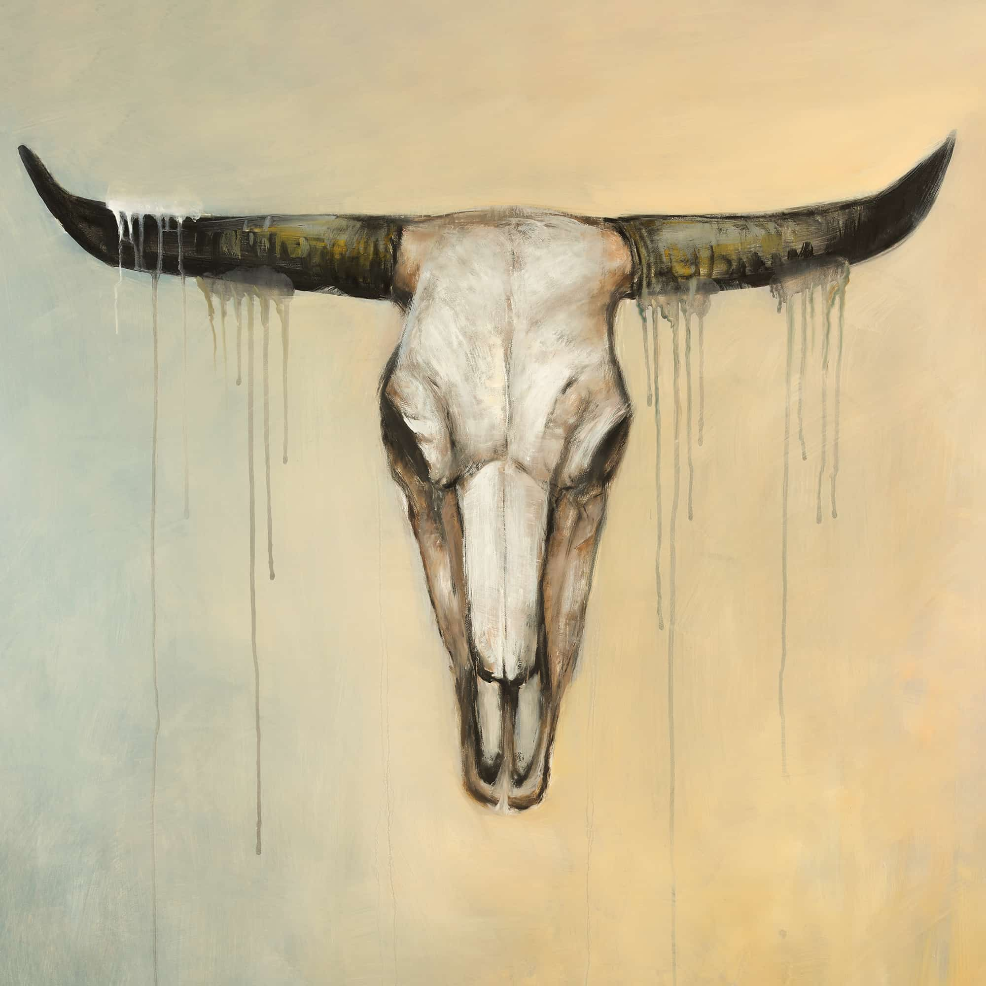 Cow Skull Canvas Painting - Painting Ideas
