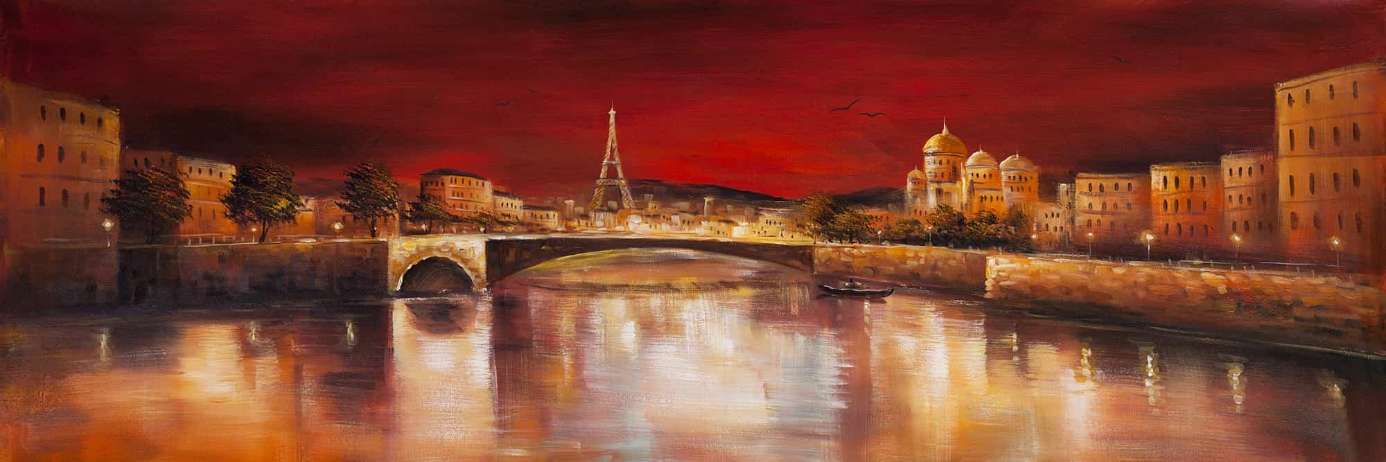 Paris by red dawn