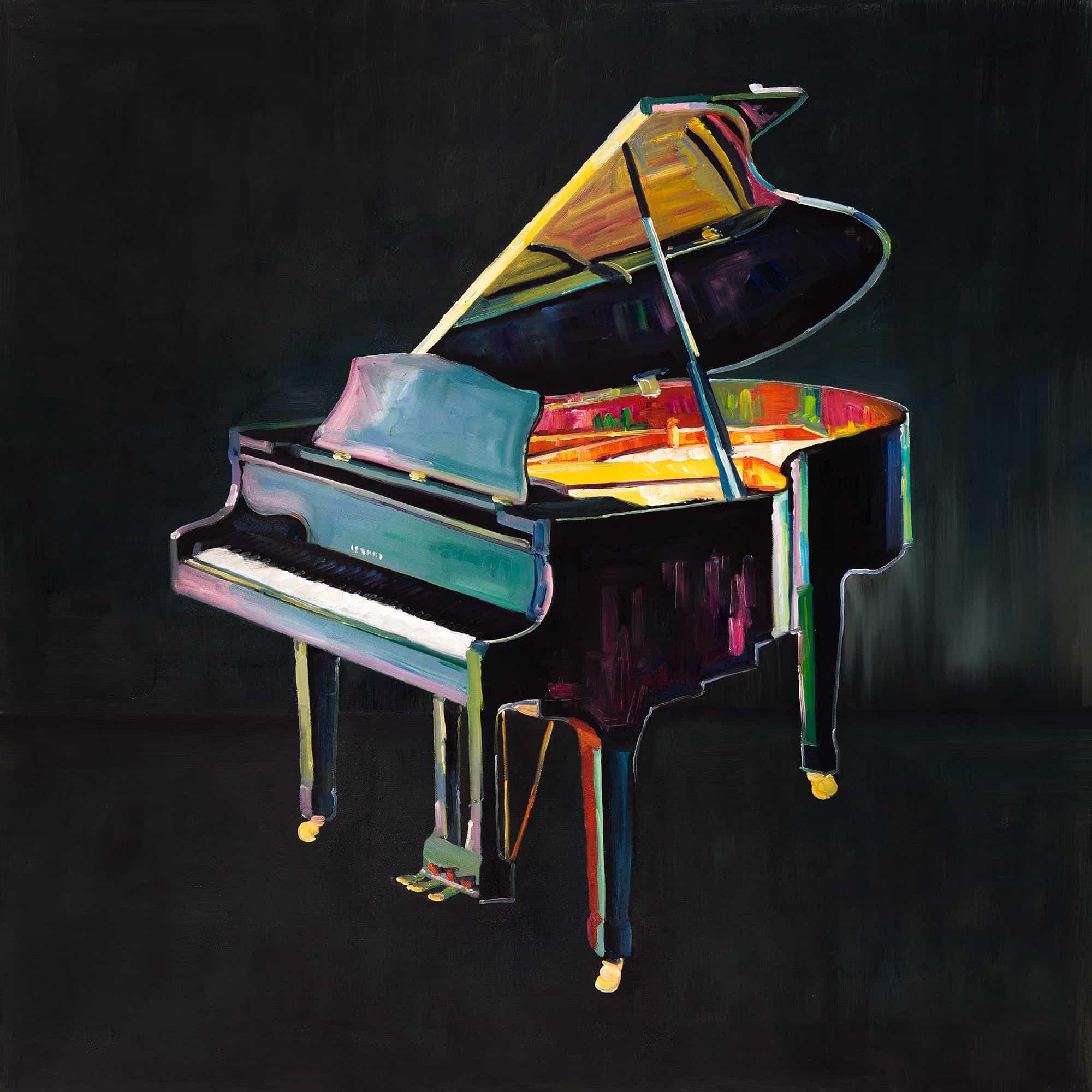 Colorful realistic piano